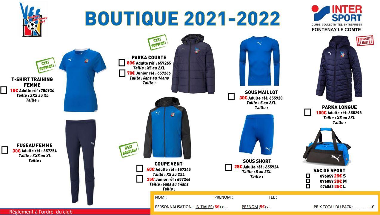 Boutique 2021 2022 2