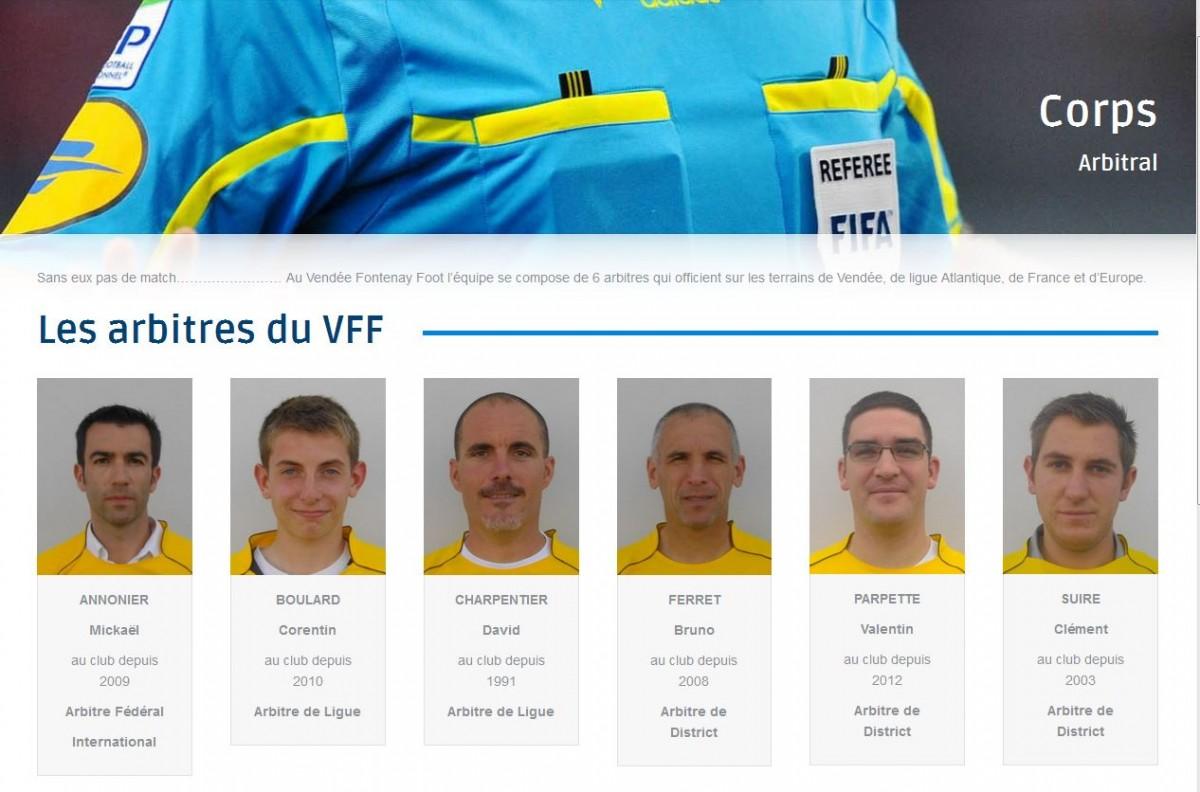 Arbitres du VFF