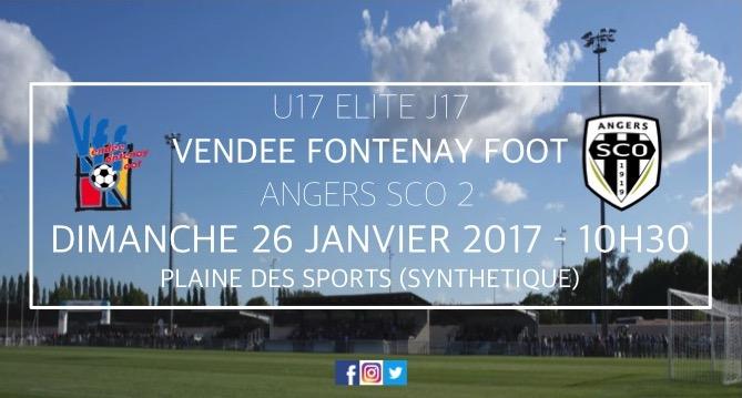 U17 ELITE : VFF - ANGERS SCO