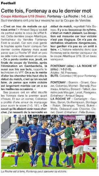 Ouest France 30 mai 2017 U19