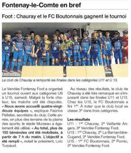 Ouest France 22 juin 2017 tournoi