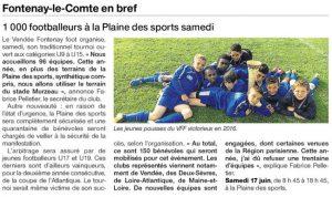 Ouest France 16 mars 2017 tournoi