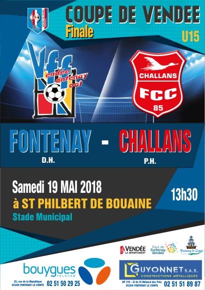Affiche FINALE Coupe de Vendée U15