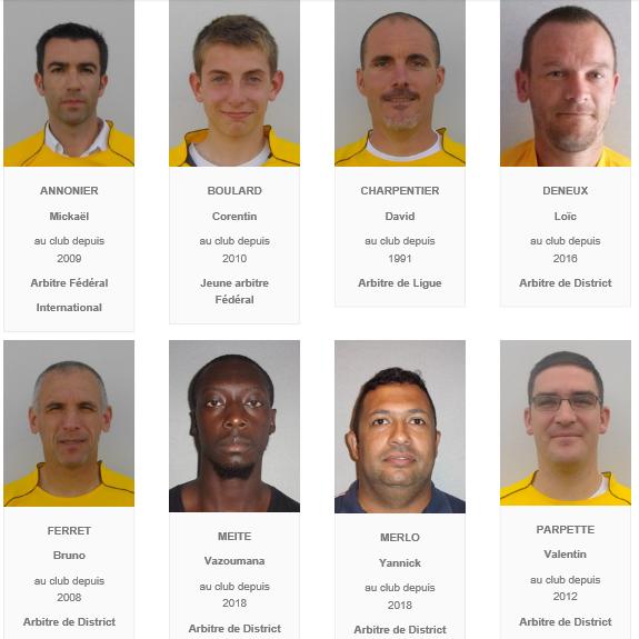 Arbitres saison 2018-2019