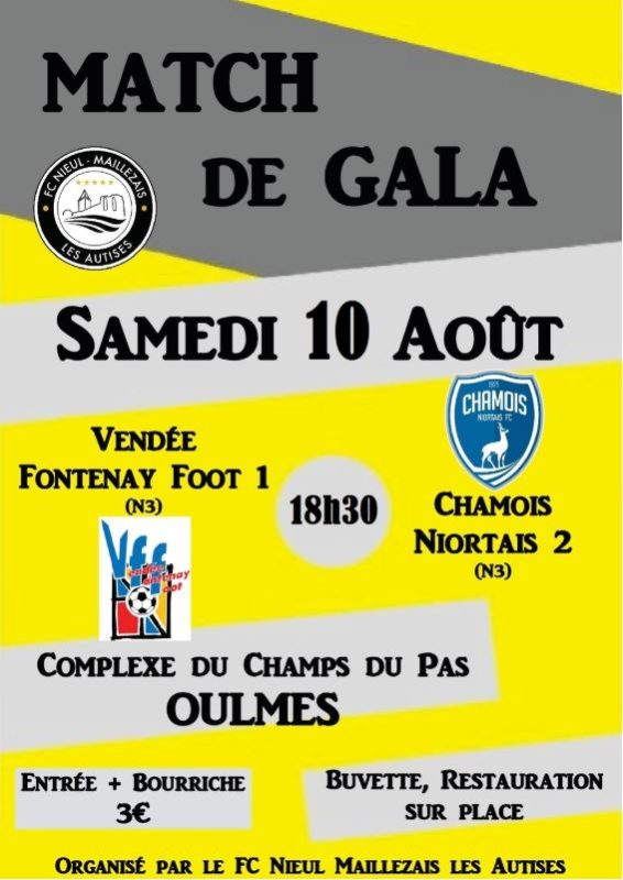 Affiche Match N3 à Oulmes