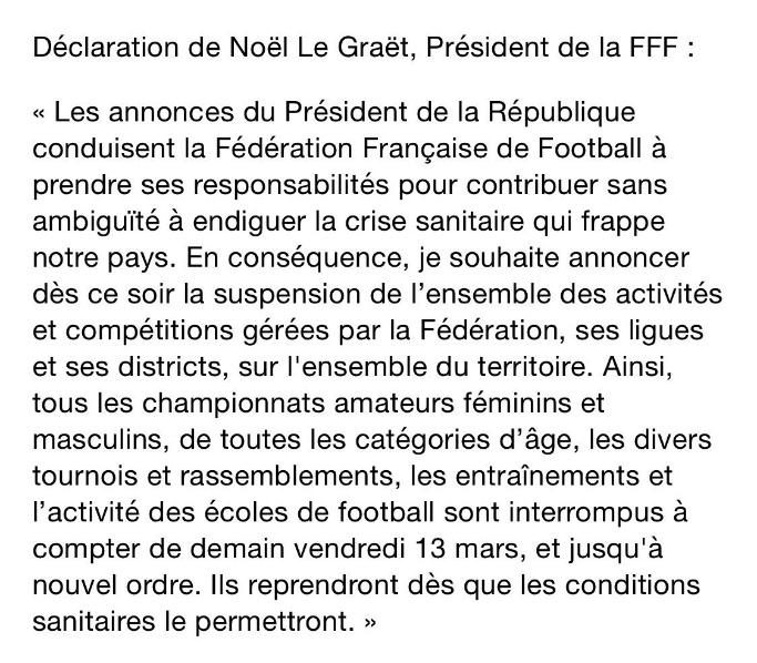 Communiqué Officiel du VFF